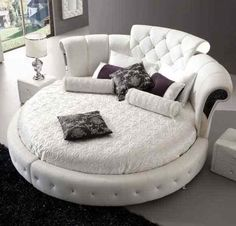 the round bed takes the traditional bed into new realm crafted and handmade intricately