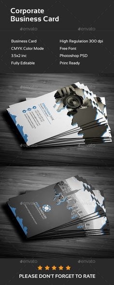 Construction business card templates pinterest construction this is a corporate business card this template download contains 300 dpi print ready fbccfo Images