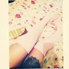 #lace #socks #fashion #tatto #pink #flowers #chocolate