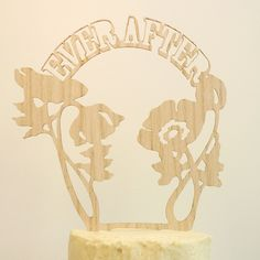 Ever After Cake Topper