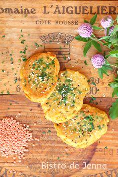 Galettes de lentilles corail Lentil Recipes, Veggie Recipes, Healthy Recipes, Healthy Food, Veggie Food, Lentil Patty, Lentils And Quinoa, Coconut Curry Soup, Lentil Burgers
