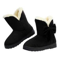 9e78cc8ab Invierno de las mujeres sólidas botas de nieve de moda femenina botines con  piel caliente mujer bota zapatos casuales botas femininas