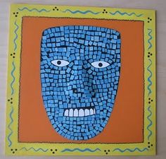 Mosaic Aztec Mask Project from Do Art!