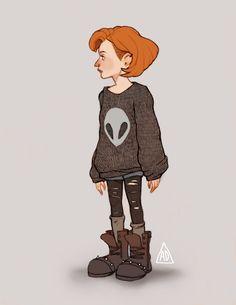 X-Files Artwork: by littledeerling on tumblr (link at source post)