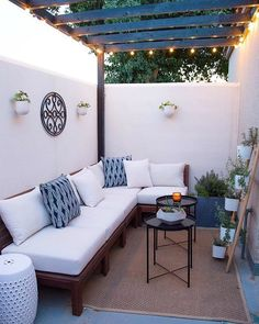 A Small Patio Makeover A Small Patio Makeover - The Design Souk - An Interiors, Styling & Travel Blo Small Patio Design, Small Backyard Patio, Terrace Design, Diy Patio, Backyard Ideas, Budget Patio, Backyard Landscaping, Backyard Pools, Small Outdoor Patios