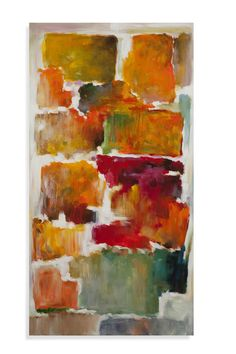 Colorful Blocks Painting Print on Canvas