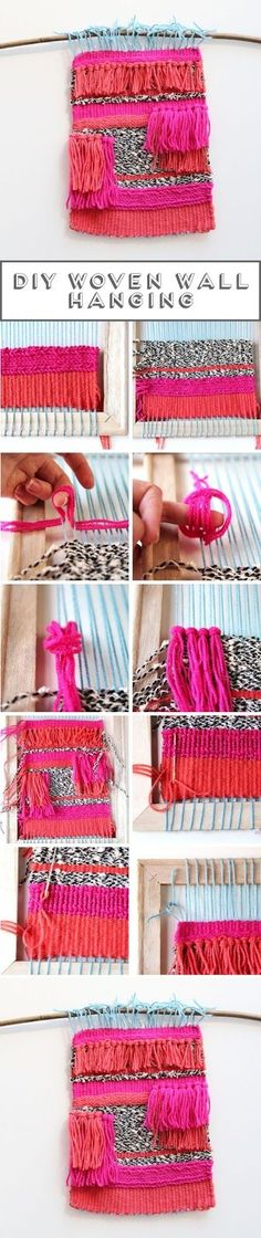Make your own Diy Woven Wall Hanging // Click through for full tutorial