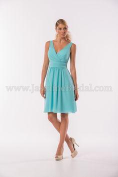Jasmine Bridal Bridesmaid Dress Jasmine Bridesmaids Style P186014K in Blue Eyes //