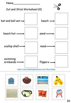 ESL / EAL / ELL / EFL Vocabulary Worksheets, Games and Activities - Summer theme Vocabulary Worksheets, English Vocabulary, Eal Resources, References Page, Beach Toys, Confidence Building, Water Slides, Ell, Beach Themes