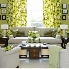 Green Living Room Color Is Great Solution For Home Interior Design To  Create Fresh And Smooth Nuance Surround The Room. Browse The Best Green  Living Room ...