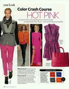 Color Crash Course Hot Pink, InStyle magazine, November 2011, Photo by AllThingsMarie | Photobucket