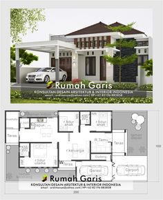 Modern Small House Design, Country House Design, Simple House Design, Bungalow House Design, House Design Photos, Minimalist House Design, Model House Plan, My House Plans, House Layout Plans