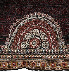 Kutch, Gujarat, India - odhani (woman's headcloth) late 19th c.
