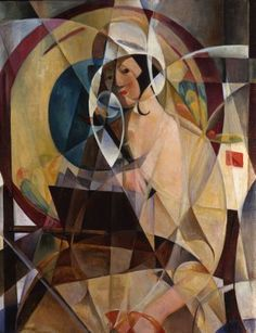 Albert Gleizes France, (1881-1953) one of the founders of the French cubism movement with Metzinger, Picasso, Braque. An influence on the School of Paris. he and Metzinger wrote the first major treatise on Cubism.