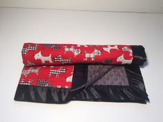 A personal favorite from my Etsy shop https://www.etsy.com/listing/265163214/silly-scottie-dog-minky-baby-blanket
