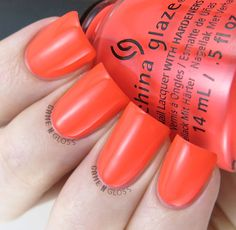 China Glaze - Red-Y To Rave swatch - Electric Nights Summer 2015 Colletion - IG @GameNGloss
