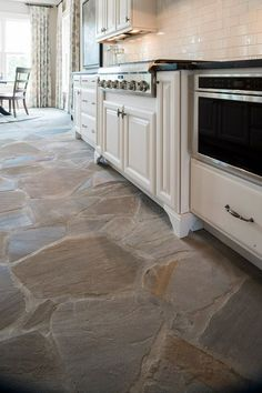 fresh ideas for kitchen floors | flagstone flooring, coastal