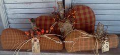 Primitive Fall Homespun Pumpkin Set  Primitive par CCCPrimitives, $29.00