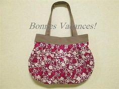 Tote bag; pink flower