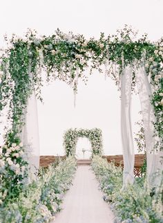 An Elegant Floral La Jolla Wedding in San Diego, CA: Modern Details and Bountiful Florals - an Aisle Planner Real Wedding. Wedding Aisles, Wedding Ceremony Ideas, Ceremony Arch, Outdoor Ceremony, Garden Wedding, Wedding Venues, Destination Wedding, Wedding Backdrops, Wedding Ceremonies