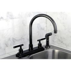 Found it at Wayfair - Water Onyx Centerset Kitchen Faucet with Lever Handles and…