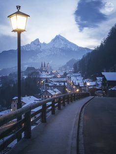 View as you are coming down the mountain from the ski resort, Berchtesgaden, Bavaria, Germany Places Around The World, Oh The Places You'll Go, Places To Travel, Travel Destinations, Places To Visit, Around The Worlds, Germany Travel, Travel Around, Wonders Of The World