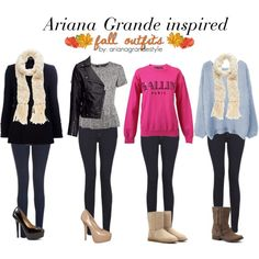 Ariana Grande Inspired Fall Outfits by arianagrandestyle (dresslikearianaa on polyvore)