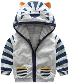 Cheap kids coat jacket boys, Buy Quality coat cartoon directly from China kids clothes boys jacket Suppliers: Fashion Zipper Coat Cartoon Tiger Hat Long Sleeve Outerwear Children Clothes Active Kids Boys Striped Coat Warm Hoodie Jacket Baby Boy Fashion, Toddler Fashion, Kids Fashion, Fashion Spring, Fashion Clothes, Style Fashion, Dress Clothes, Coat Dress, Fashion Games