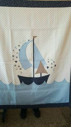 Baby Quilt Patterns, Applique Patterns, Applique Designs, Baby Knitting, Crochet Baby, Baby Staff, Baby Gifts To Make, Baby Sheets, Baby Boy Room Decor