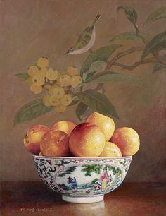 Yin Yong Chun (Chinese, b. 1958) - Bowl of Peaches, 2009
