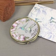 the aviary compact mirror in two designs by lisa angel homeware and gifts   notonthehighstreet.com