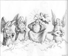 Heavenly Music by Claude Serre - Claude Serre (1938 – 1998) was a French cartoonist. // Музыка(автор карикатур Claude Serre)