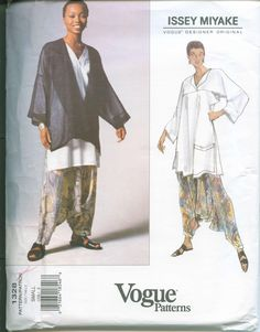 OOP Vogue 1328 Issey Miyake Sewing Pattern Jacket Top and Pants Dated 1994 Sizes Small (8-10) M.C. Hammer Pants. $60.00, via Etsy.