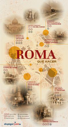 #Infografía #Quéhaceren #Roma  8 cosas que hacer en #Roma #Italia con #Despegar #viajar #trip #travel #turismo #tourism Infographic