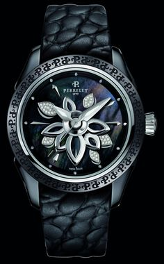 Luxury Watch: Perrelet Diamond Flower Ceramic.