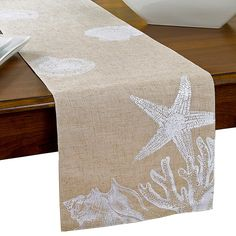 Stamped for Cross Stitch Pine Cones Table Runner//Dresser Scarf