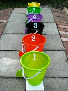 Bean bag toss party game see more outdoor game ideas:  http://thegardeningcook.com/outdoor-games/