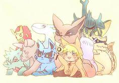 Baby Naruto Uzumaki and the Tailed Beasts ♥♥♥ #Cute #Babies #Jinchuuriki