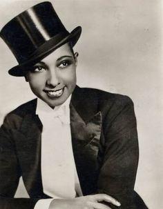 Josephine Baker | Top Hat & Tails | Tux | Look | Face | Glam www.carolrichelle.com