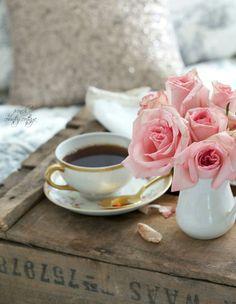 rosas con el café
