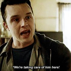 Gallavich - Mickey taking care of Ian. He loves him so much. I love them so much - Shameless US