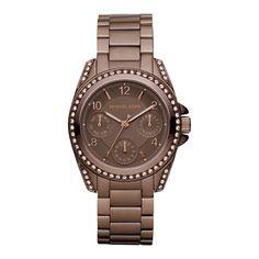 Michael Kors Mini Blair Espresso Glitz Watch, Brown