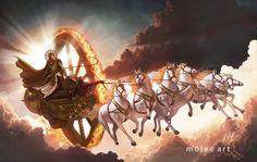 Surya - God of Sun by molee.deviantart.com on @DeviantArt