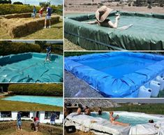 DIY Tutorial Showing How To Make A Hay Bale Swimming Pool Pictures, Photos, and Images for Facebook, Tumblr, Pinterest, and Twitter