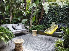 Outdoor patio + (maybe) herb garden = Home goal Outdoor Rooms, Outdoor Living, Outdoor Furniture Sets, Outdoor Decor, Small Gardens, Outdoor Gardens, Small Garden Spaces, Small Courtyard Gardens, Courtyard Ideas