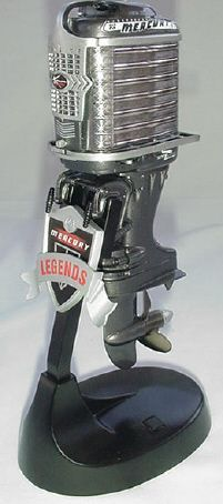 THE 1957 MERCURY MARK 75  This web site sells a bunch of overly detailed 1/8th scale models of classic outboard motors. Most cost around $190