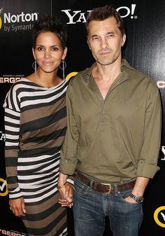 Olivier Martinez + Hallie Berry at the LA premiere of Cybergeddon