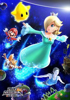 Rosalina and the gang - Super Smash Bros