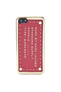 Metallic Standard Supply iPhone 5 Case by Marc Jacobs.  So pretty