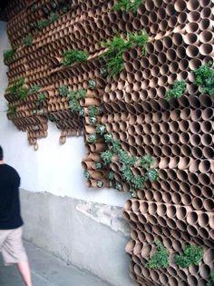 EL MUNDO DEL RECICLAJE: Decora con tubos de cartón reciclado